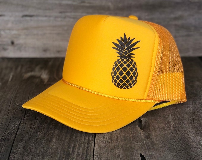 Pineapple Gold Foam Trucker Hat