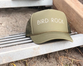 Bird Rock Olive Green Foam Trucker Hat