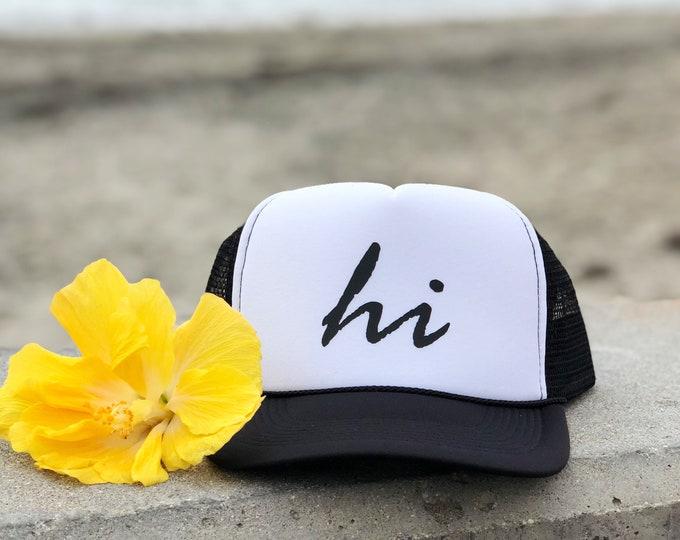 Hawaiian Islands Unisex Black And White Foam Trucker Hat