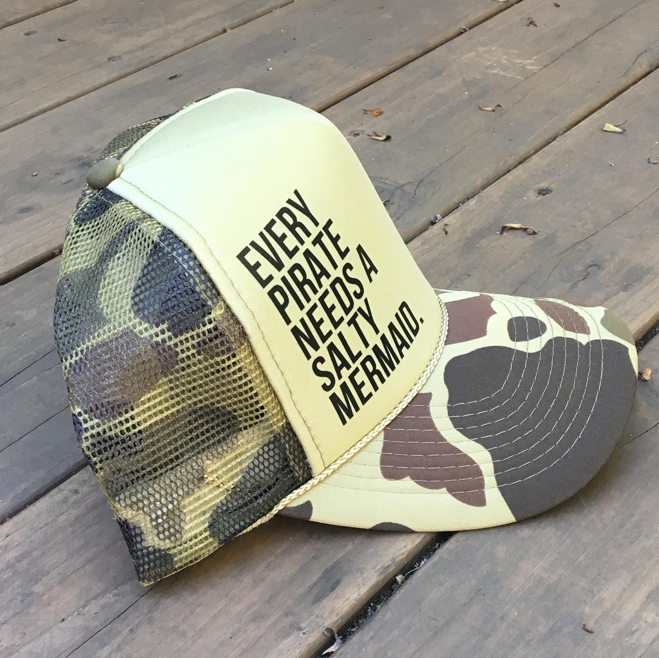 b547fa71ccf Salty Mermaid Camouflage Foam Trucker Hat For Men and Women. gallery photo  gallery photo gallery photo ...