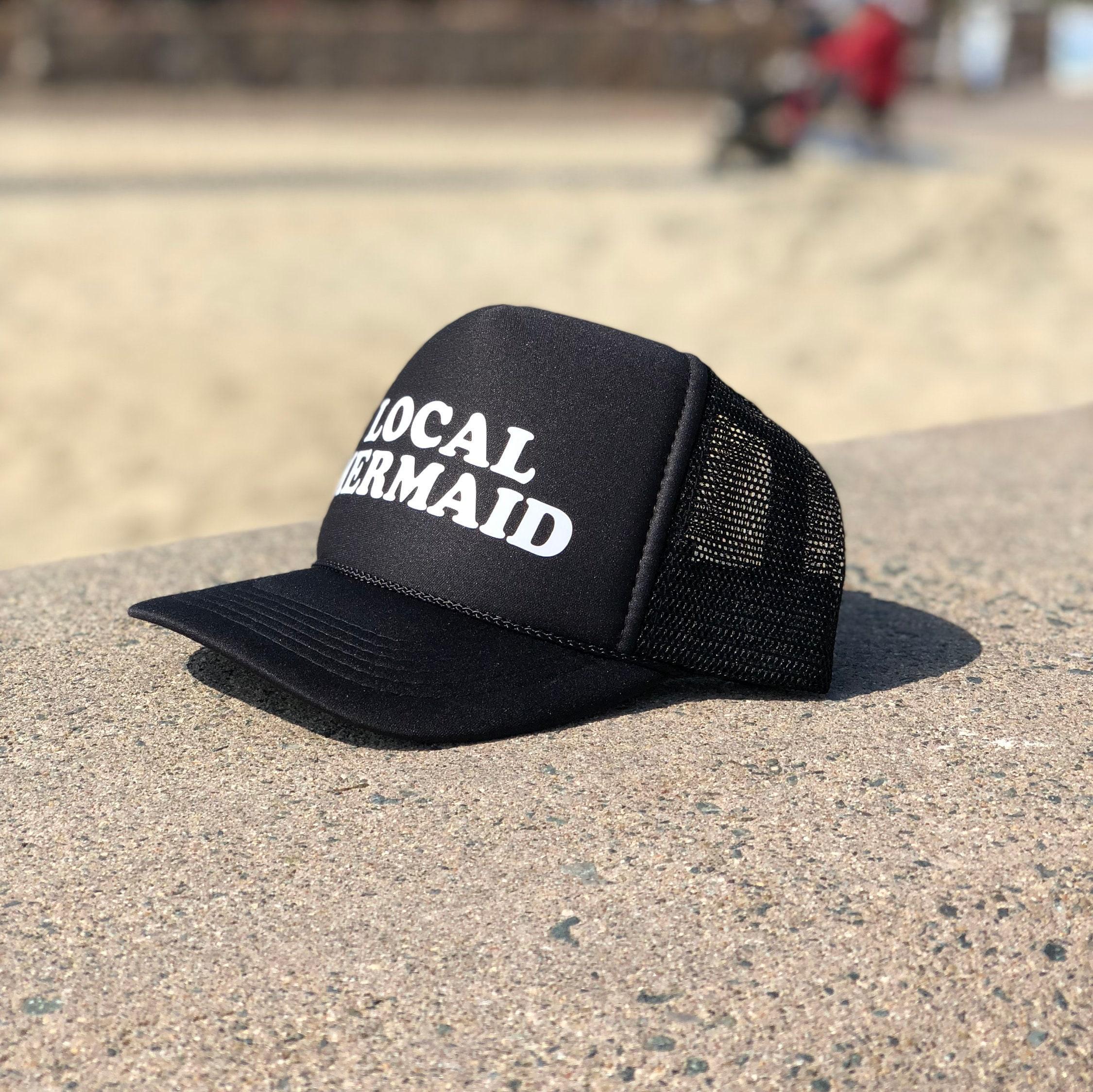 6ee71ec86ea Local Mermaid Youth Black Foam Trucker Hat, Summer Beach Hats For ...