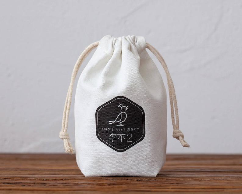 94f69b9bb8 Set of 50 personalized logo printcustom cotton drawstring | Etsy