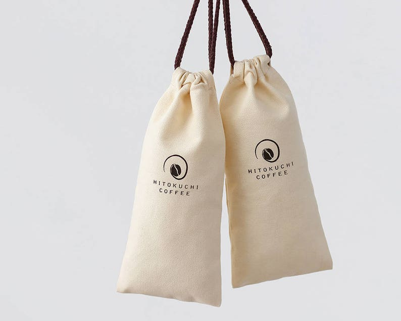 4af1790ea7 50 Custom coffee bags beige cotton fabric bag printing logo | Etsy