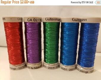 Gutermann-Sulky-Thread- Multi Color- Metallic-100% Cotton- Polyester-Rayon-Viscose