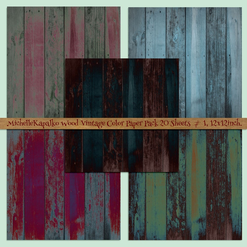 Download Bright Colour Wood Sublimation Backgrounds Digital Paper Pack 12x12 Scrapbooking Crafting Card Making Labels Tags Shabby Rustic P51