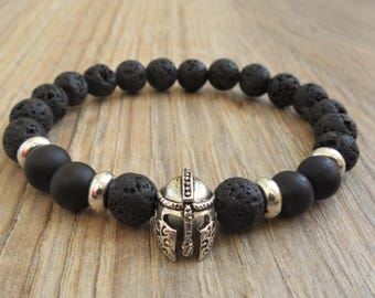 mens bracelet gift for men bracelet for men helmet bracelet helmet jewelry warrior bracelet mens spartan bracelet gladiator bracelet for him