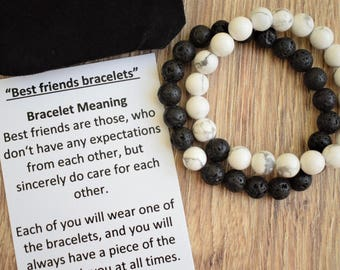 Best Friend Birthday Gift Bracelet Friendship Gifts Distance Bracelets Card Friends Message
