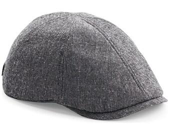 Faux suede newsboy cap baker boy hat grey