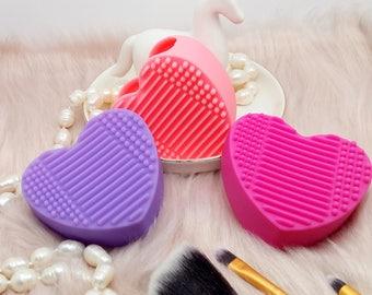 Brush Cleaner Cuoricino Pulisci Pennelli Trucco Make Up - Scegli il tuo Preferito!