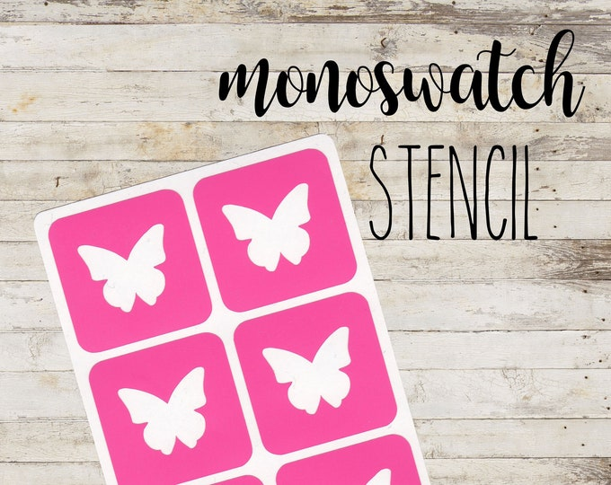 "MONOSWATCH Stencil ""BUTTERFLY"" per Make Up | 6 Stencil Singoli"