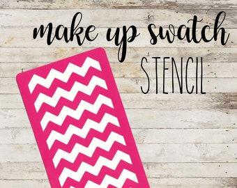 "Stencil ""Chevron"" per Swatch Make Up | Guida per Swatch Trucco"