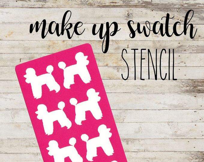 "Featured listing image: Stencil ""Barboncini"" per Swatch Make Up 
