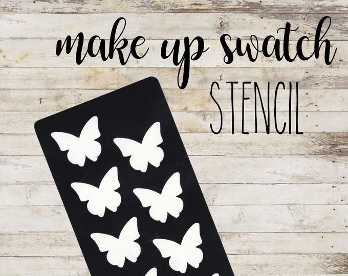 "Swatch Stencil ""BUTTERFLY"" per Makeup | Stencil a 8 Sezioni"