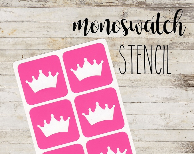 "MONOSWATCH Stencil ""PRINCESS"" per Make Up | 6 Stencil Singoli"