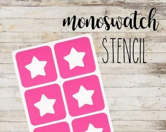 "MONOSWATCH Stencil ""STARS #1"" per Make Up | 6 Stencil Singoli"