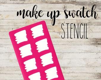 "Stencil ""WATERCOLOR"" per Swatch Make Up | Guida per Swatch Trucco"