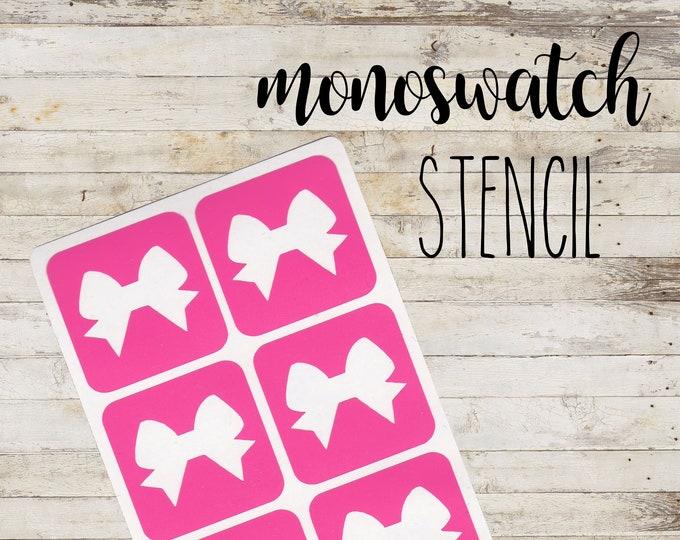 "MONOSWATCH Stencil ""BOW"" per Make Up | 6 Stencil Singoli"