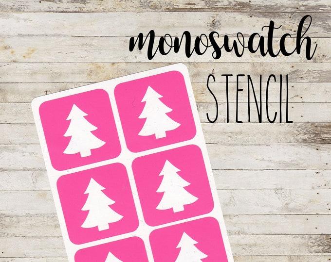 "MONOSWATCH Stencil ""XMAS TREE"" per Make Up | 6 Stencil Singoli"