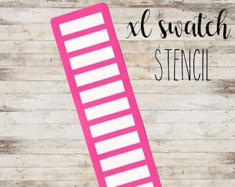 "XL Swatch Stencil ""RECTANGULAR #6"" per Makeup | Stencil a 12 Sezioni"