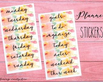 Set di 28 Stickers Adesivi Giorni Settimana per Agenda | FLOWERS#1