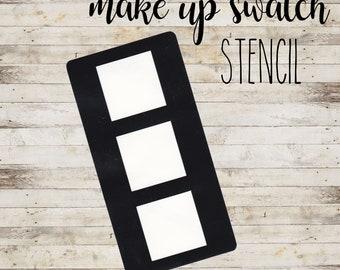 """Swatch Stencil """"SQUARE #1"""" per Makeup   Stencil a 3 Sezioni"""