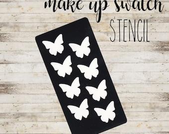 "Swatch Stencil ""BUTTERFLY"" per Makeup   Stencil a 8 Sezioni"
