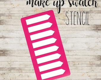 "Stencil ""Banner #5"" per Swatch Make Up | Guida per Swatch Trucco"