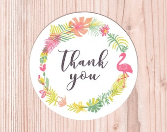 "Set di Stickers ""Thank you"" Tropicali 