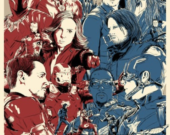 Captain America: Civil War - A4 Print / Poster