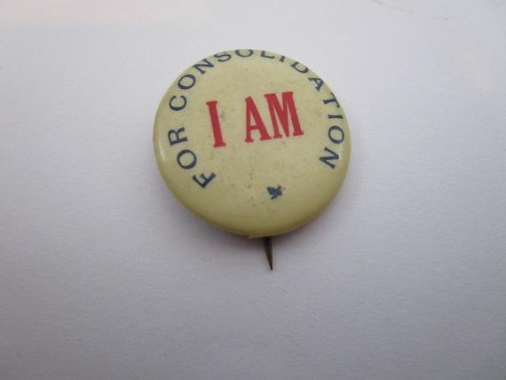1917 WWI celluloid pinback buttonbadge