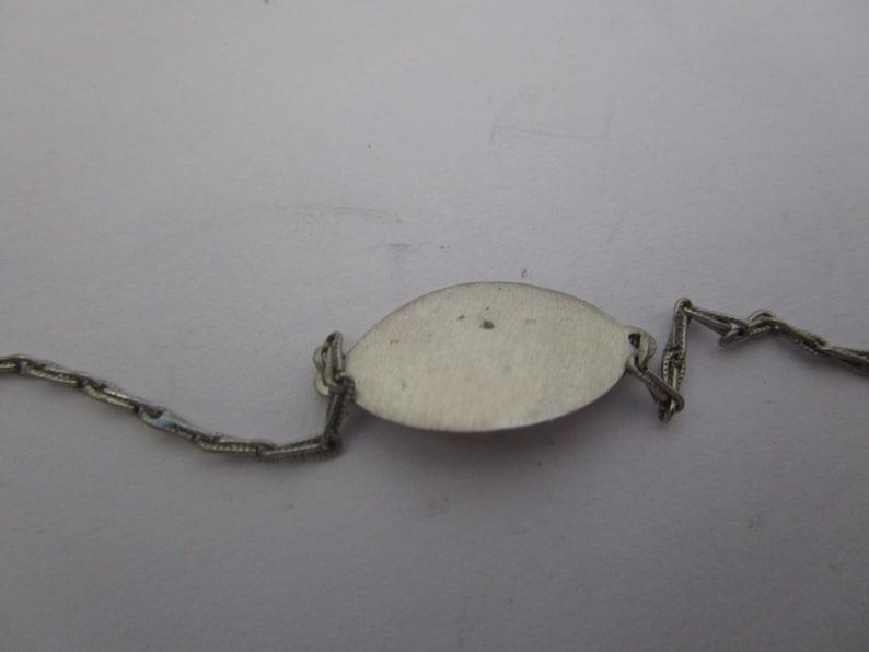 Antique Sterling Silver ID Bracelet Never Engraved