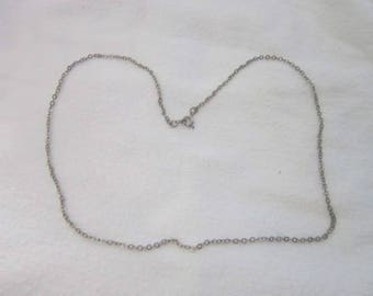 19 inch Silver Tone Chain Necklace Nice