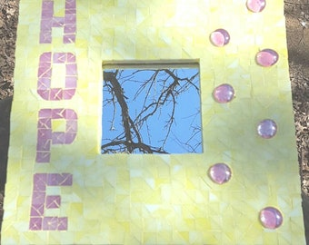 Mosaic Hope Wall Plaque