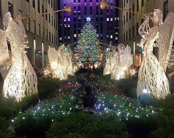 Wooden Art - Christmas at Rockefeller - New York City, NY