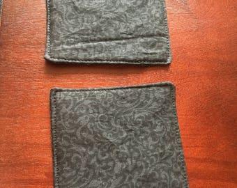 Paisley Fabric Coasters