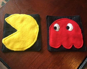 Pacman Fabric Coasters