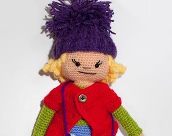 Amigurumi doll with crochet technique. Toy children, babies. Present