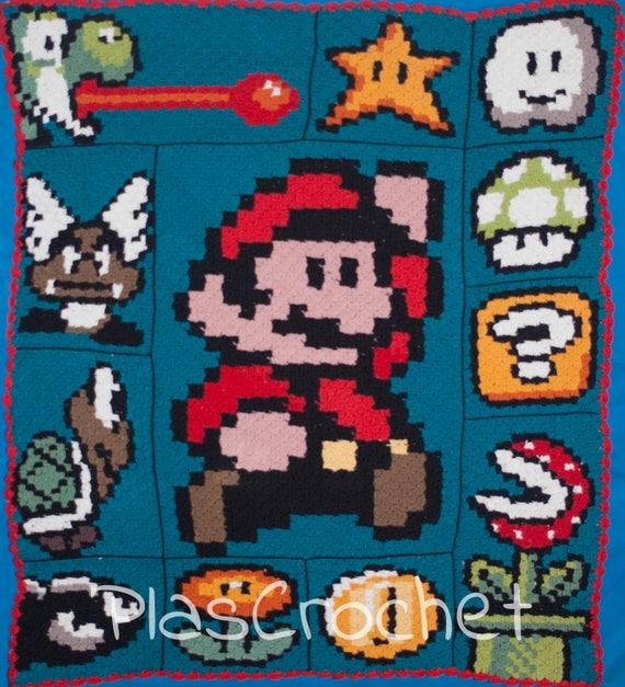 Mario Bros Decke Häkelnhäkeln Mit Technischen C2cecke Zu Etsy