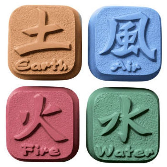 Soap Mold Elements Soap Mold Earth Air Fire And Water Etsy