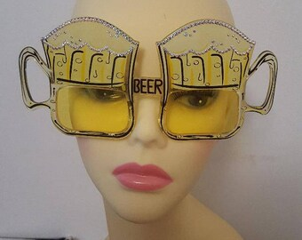 FunSpex Sunglasses Adorned with Swarovski Crystal -  'We're Only Here For The ..
