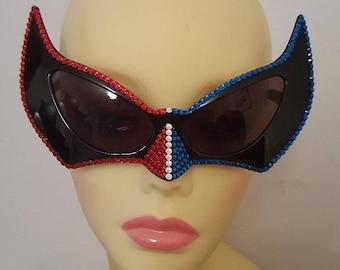 FunSpex Sunglasses Adorned with Swarovski Crystal -  So Cool SuperGirl
