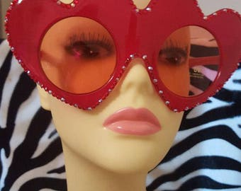 FunSpex Sunglasses Adorned with Swarovski Crystal -  Queen Of Hearts