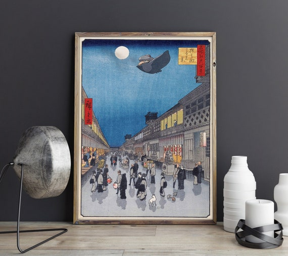 Spirited Away Yubaba Studio Ghibli And Hiroshige Japanese Etsy