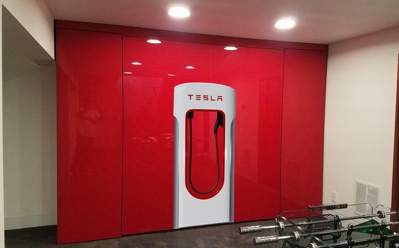 Lifesize Tesla Supercharger replica wall decal sticker ...
