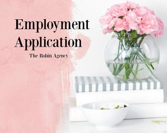employment application template job application template business hr tools