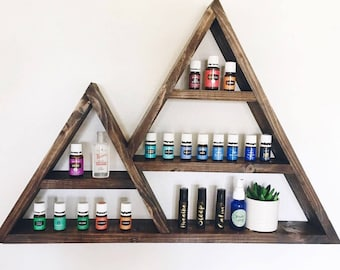Double Mountain Shelf, Mountain Shelf, Triangle Shelf, Essential Oil Shelf