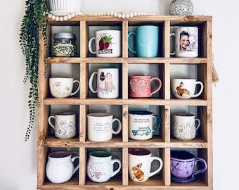 Mug Rack Wall Shelf