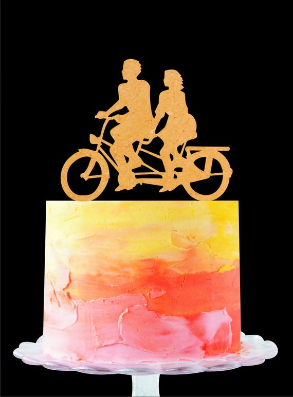 Bicycle Wedding Cake Topper Bicycle Cake Topper Bike Cake | Etsy