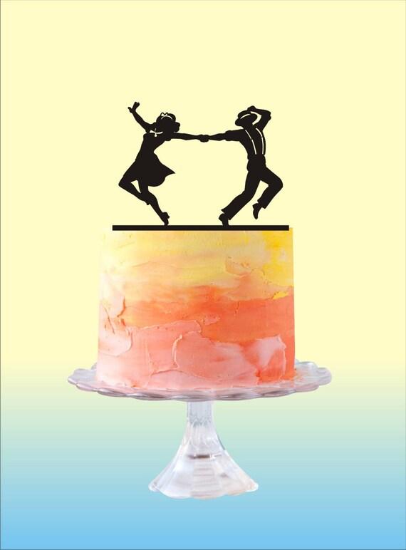 Dancing Couple Cake Topper wedding cake topper Wedding Cake | Etsy