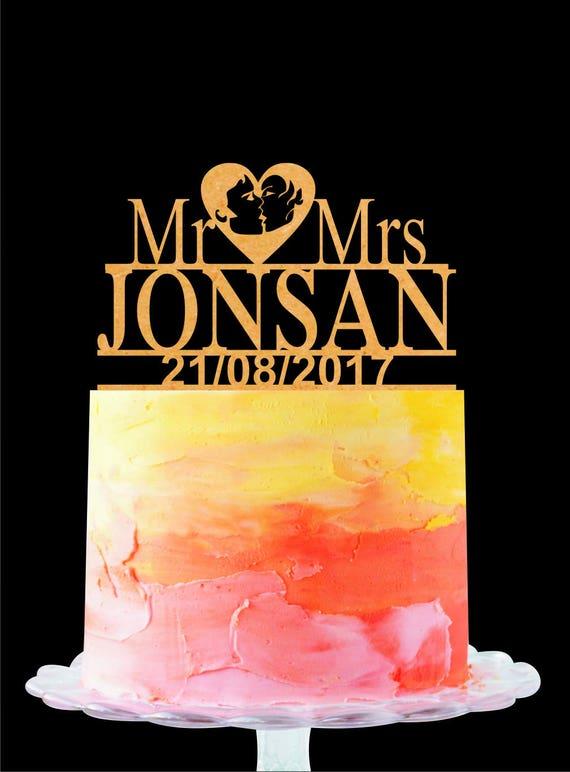 Custom Wedding Cake Topper Wedding Cake Topper Mr and Mrs | Etsy